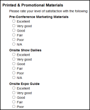 conference survey template