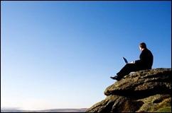 laptop mountain