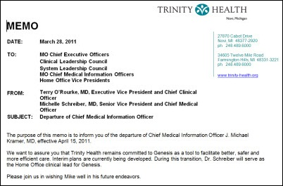 mandatory lunch break memo News 4/1/11 | HIStalk
